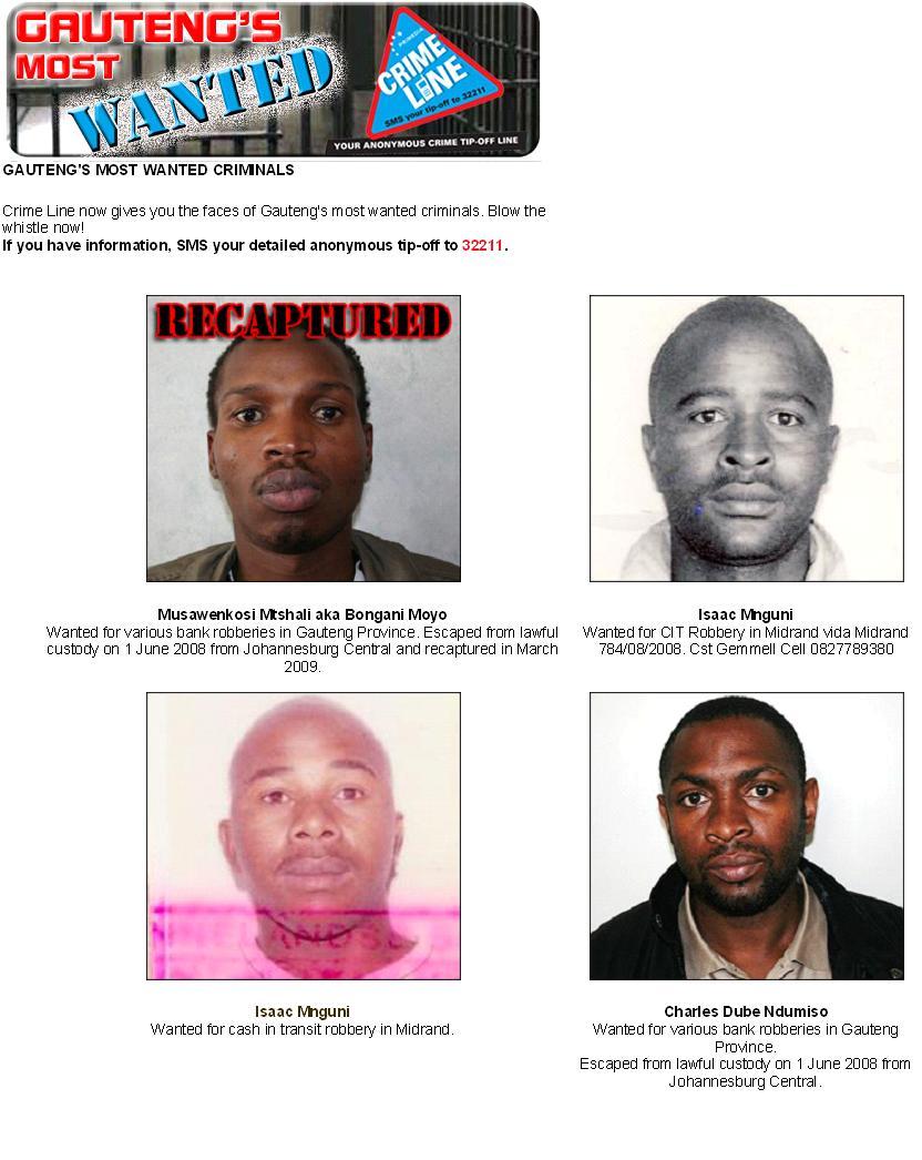 Gautengs Most Wanted Criminals Muslim Response Unit